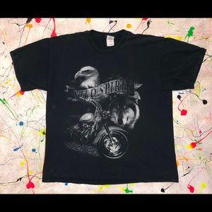 Biker T-shirt (XXL) Black (Motorcycle)
